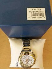 Mens Seiko Solar Cal. V172 watch Silver and Gold