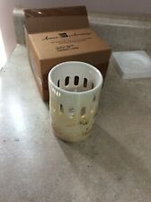 Home Interior / Homco Tall Spring Candle Holder New # 92013 Flowers And Bee