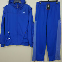NIKE AIR JORDAN CP3 SWEATSUIT HOODIE + PANTS ROYAL BLUE RARE SUIT (LARGE MEDIUM)