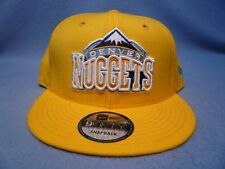 buy online 7a6e8 ad063 Denver Nuggets Era 9fifty Snapback Hat Cap Yellow Snap Back