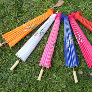 Chinese Umbrella Art Deco Painted Parasol for Wedding Party Oil Paper Umbrella