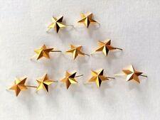 Lot of 10 Russian Army Major Epaulet metal Rank Star pin. Gold 20 mm