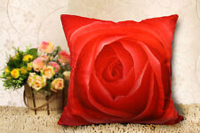 RED ROSE VELVETEEN PILLOWCASE WEDDING GIFT SOFA CAR CUSHION COVER DOUBLE SIDES