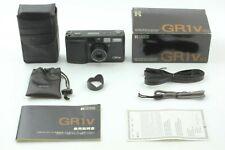 【 MINT+ in Box 】 Ricoh GR1v Black 35mm Film Camera w/ Case, Hood from JAPAN 398