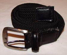 """Belt Mens Back Woven XL 42 - 44 Adjustable Buckle 1"""" wide"""