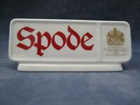 Spode Bone China Advertising Display Sign Plaque Shop Dealer Point of Sale Mint