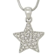 "Star W Swarovski Crystal Celestial Symbol 18"" Chain Pendant Necklace L"