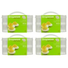 Snapware 2-Layer Snap 'N Stack Food Storage with Egg Holder Trays (4-Pack)