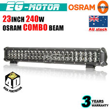 23INCH 240W OSRAM 4D LED WORK LIGHT BAR SPOT FLOOD COMBO OFFROAD LAMP 4X4 ATV