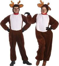 Reindeer Adult Plush Jumpsuit Costume