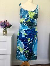Suzi chin for maggy boutique ~ Diseñador Vestido Con Estampado Ajustada Brillantes Talla 12 E5
