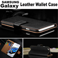 Genuine Real Leather Flip Wallet Case Cover Fit For Samsung Galaxy/ Apple iPhone