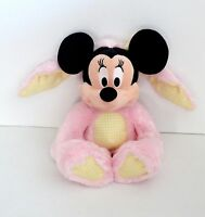 "Disney Plush Stuffed Pink Bunny Minnie Mouse 14"" Toy Doll"