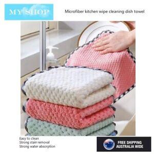 3 Pcs Super Absorbent Microfibre Kitchen Cleaning Cloth Dish Washing Towel Rag