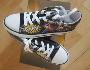 Jungenschuhe Batman & Superman Gr. 40 Kinderschuhe Schuhe Sneaker NEU OVP