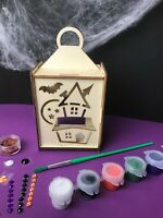 Halloween Wooden Lantern~ Paint Your Own ~ Kids Craft Kit ~ Trick or Treat