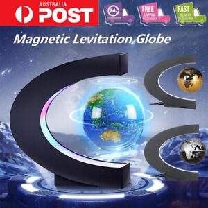 LED Magnetic Levitating Floating Rotating Globe World Map Lamp Light Education