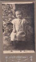1922 CDV Cute little girl Russian Antique photo