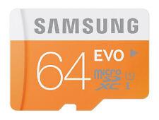 Samsung EVO 64GB microSDXC micro SD SDXC UHS microSD for GALAXY S5 S7 S8 S9 card
