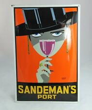40x60cm SANDEMAN´s Port Emailleschild  Loxton Knight woman Frau  enamel sign