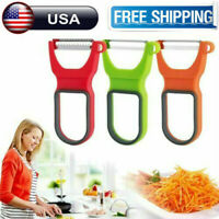 3Pcs Stainless Steel Potato Peeler Carrot Grater Fruit Vegetable Cutter Tool