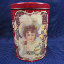 "Vintage 1985  Coca-Cola Tin Can 7.5"" x 5.5'"