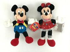 "Disney Mickey Mouse & Minnie Mouse Plush 11"" Stuffed Soft Toys"