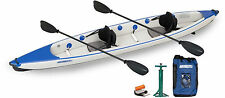 SEA EAGLE 473RL RAZORLITE INFLATABLE KAYAK CANOE PRO CARBON PACKAGE PADDLE SEATS
