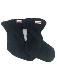 New! Hunter Womens Medium 5-7 Stitch Cable Short Boot Socks Black