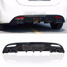 Rear Bumper Diffuser Dual-muffler Glossy Black For HYUNDAI 2011-2013 Elantra MD