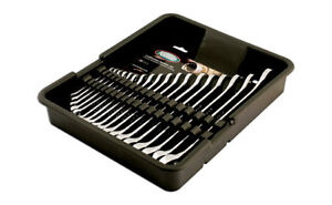 KAMASA LAST FEW 18 Pc POLISHED METRIC 6mm - 25mm SPANNER WRENCH SET IN TOOL TRAY