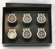 Trouser Braces 6 Pack Clip On Buttons Trouser Buttons (6 Pack Buttons) #369