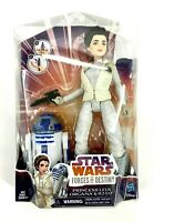 "Star Wars Princess Leia Organa R2 D2 Forces of Destiny Action Fig Set 11"" NIB"