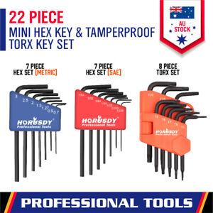22-Piece Stubby Hex & Torx Key Set Mini Allen Wrench Tamper proof Combination