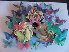 30 PRECUT Edible Mixed Butterfly wafer/rice paper cake/cupcake toppers