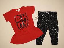 NWT DKNY 2pc set GIRL size 18M black, red