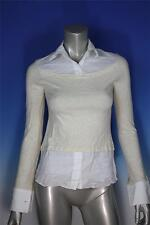 Women's Stylish Beige Career Style Cotton Blend Shirt - Size Small