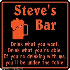 New Personalized Custom Name Drink Under The Table Bar Beer Pub Gift Sign #24