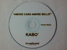 KABO' Amore caro amore bello cd singolo PR0M0 LUCIO BATTISTI