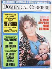 DOMENICA DEL CORRIERE 12 dicembre  1972  N. 50 # LIZ TAYLOR # POSTER : LA LANCIA