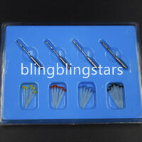 20 Pcs Dental Resin Fiber Post & 4 Drills Screw Glass Endo Thread High-intensity