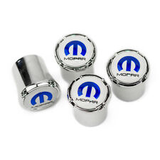 MOPAR Tire Valve Stem Caps - Blue MOPAR Logo - Made in USA - Challenger Charger