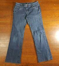Ann Taylor Petite Curvy Medium Wash Wide Leg Denim Jeans 4P