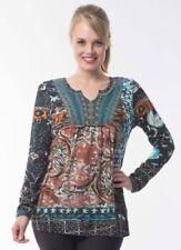 Viscose Long Sleeve Boho Tops & Blouses for Women