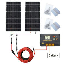 200W Mono Solar Panel Kit System 20A Controller for RV Boat Marine RV Van Home
