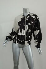 Dries Van Noten Black And white Cotton Tie And Dye Zipped Sweater Sz Medium