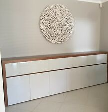 THB-036 tassie oak & high gloss Polyurethane buffet side board
