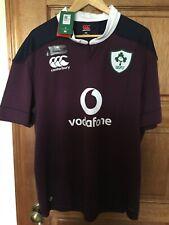 Ireland rugby 2016/2017 alternative away plum shirt 2 XXL BNWT rare men's
