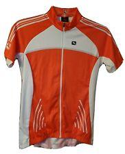 NWT Giordana Silverline Raglan Women's Orange White Cycling Jersey Shirt Size L