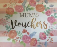 Mother/Mum voucher/coupon book Birthday Gift 30th 40th 50th Lockdown Activities